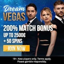 Dream Vegas Casino €7000 high roller bonus +120 free spins