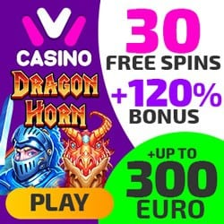 30 free spins and 120% up to 300 EUR bonus