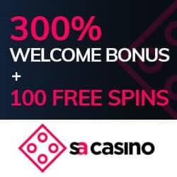 100 FS and 300% welcome bonus