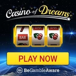 Casino Of Dreams 50 free spins on Cool Bucks + 200% up to £1000 bonus