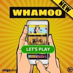 Whamoo 100% bonus or 300 free spins (Welcombo)