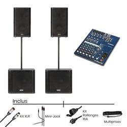 Pack Systeme Son QSC K12 + Console de Mixage