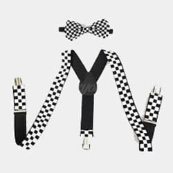 Sequin Suspenders and Bow Tie Set Men's All Colors