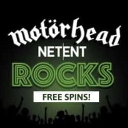 Motörhead Videoslot free spins and bonuses - Netent Casino