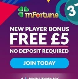 mFortune Mobile Casino - £5 FREE no deposit bonus for UK