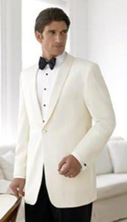 Ivory Dinner Jacket Microfiber Shawl Lapel Tuxedo Jacket