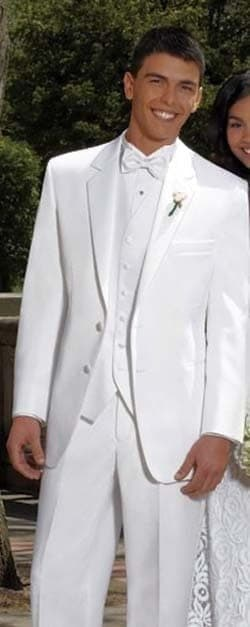 Tuxedo Suit Men's 5 Piece With Matching Vest Tie Pocket Square Wedding Prom
