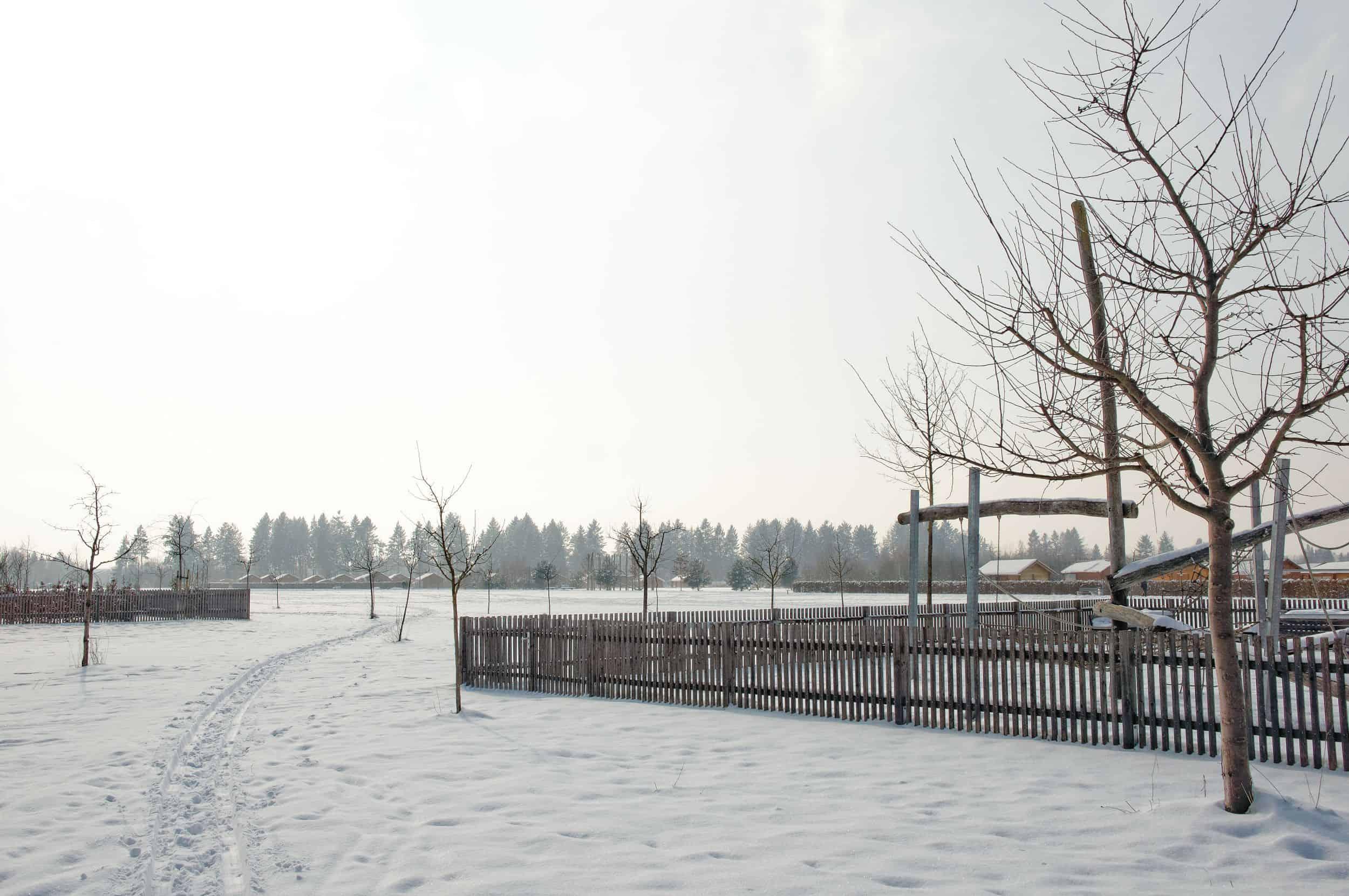 Bild: Blick über die Kleingartenanlagen in die Weite im Winter, Foto: ver.de landschaftsarchitektur