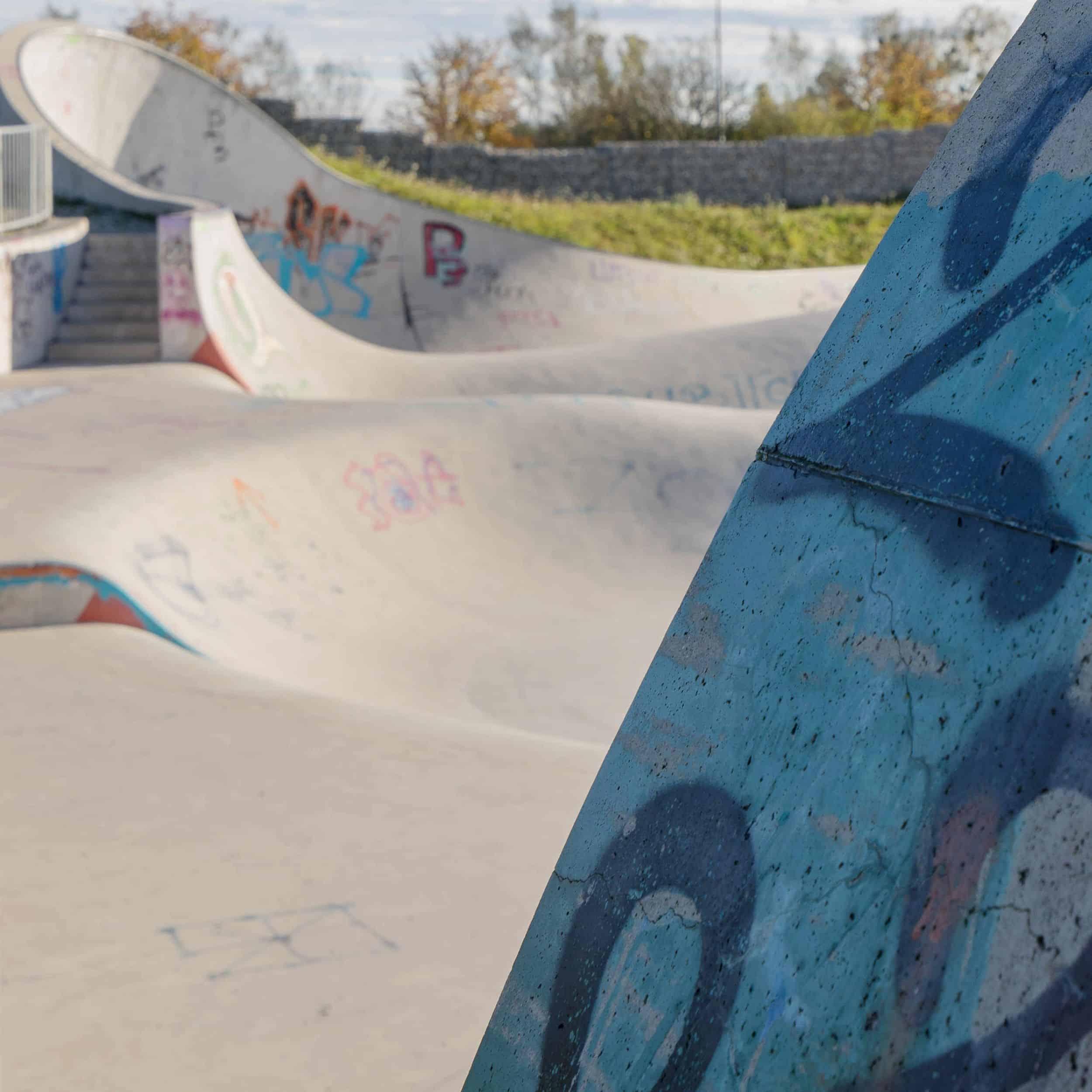 Foto: Blick über die Skateanlage, Foto: ver.de landschaftsarchitektur