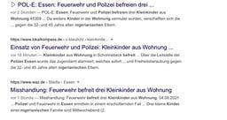 Screenshot: Suchergebnisse auf Google.de