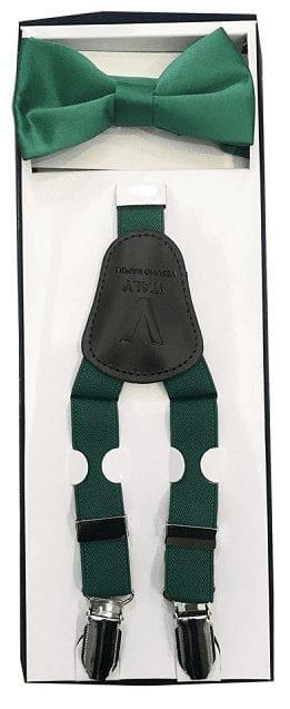 Boys Emerald Suspender and Bow Tie Set Kids Wedding Colors