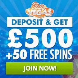 Slotty Vegas Casino | 75 free spins + 100% up to €500 bonus | review