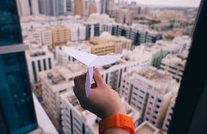 ziele im leben erreichen wie durch einen Papierflieger