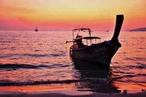 Sunset at Railay beach