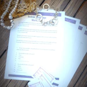 bedroom language worksheet