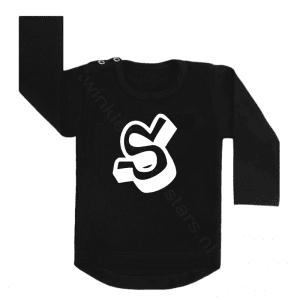 Longsleeve zwart letter S choose