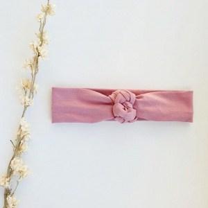 Tricot haarband vintage pink braid