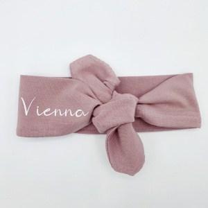 Wrap haarband dusty pink met naam