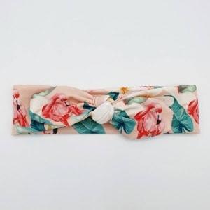 Wrap haarband tropical flamingo