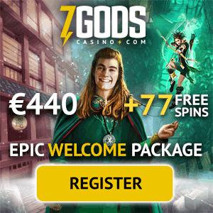 7 Gods Casino welcome bonus: 77 free spins and 270% match bonus