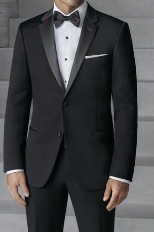 Slim Fit Black Rental Tuxedo