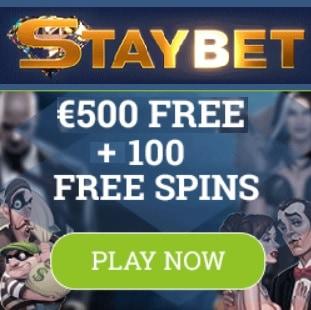 Staybet Casino Review   100 free spins plus €500 gratis bonus