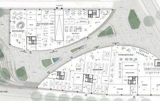 Bild: Lageplan Wettbewerb Q20 Stuttgart Freiflächen Erdgeschoss, Copyright: ver.de