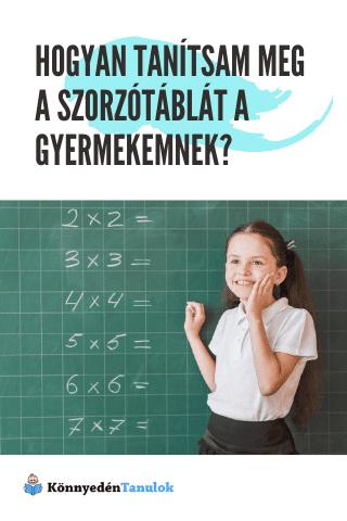 Hogyan tanítsam meg a szorzótáblát a gyermekemnek?