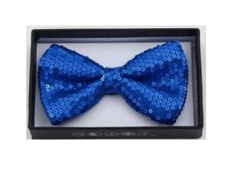 Sequin Bow Tie Royal Blue