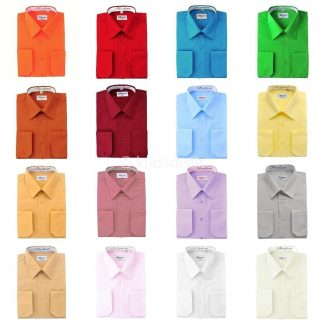Dress Shirts Many Colors Takes Cuff Links