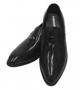Brown Dress Shoe with Perforated Quarter by Faranzi