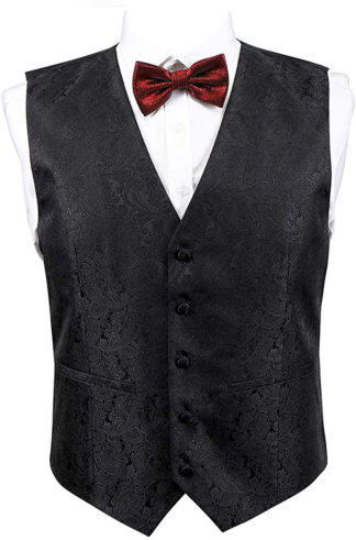 Paisley Black Vest