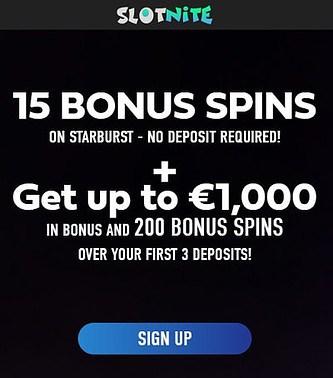 Free Spins No Deposit Required Slotnite