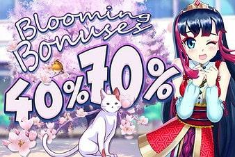 40% - 70% Booming Bonuses