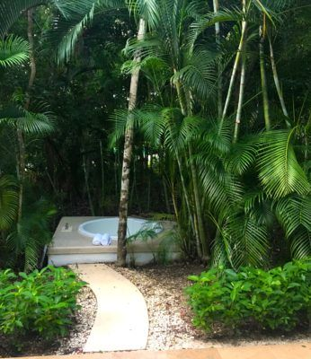 Your private hot tub at sian kaan