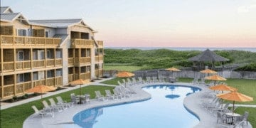 The family pool at the sanderling, obx