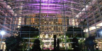 Gaylord national resort lights up at night