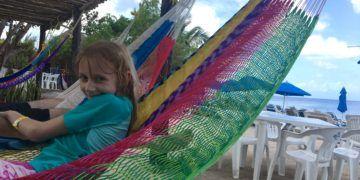 Having fun in the hammocks at playa uvas