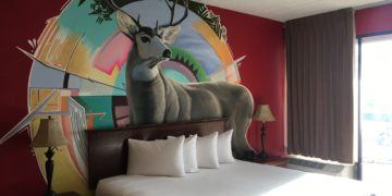One of the artist rooms at the nativo lodge in albuquerque