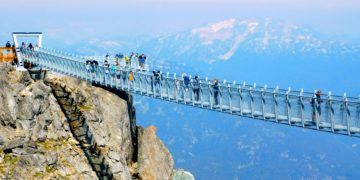 This suspension bridge is a summer treat in whistler, bc