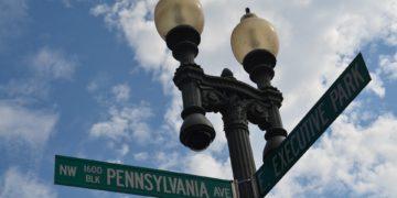 Street sign for pennsylvania avenue in washington, dc