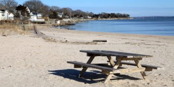 Long island's east end is full of pretty, rugged beaches like this one in jamesport