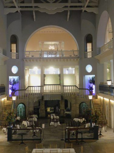 The alcazar's swimming pool is now the lightner museum's cafe.