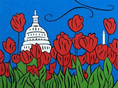 DC Tulip Pop painting