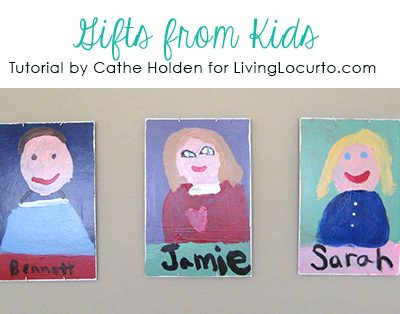 Gifts from Kids – How to Make Self-Portrait Art