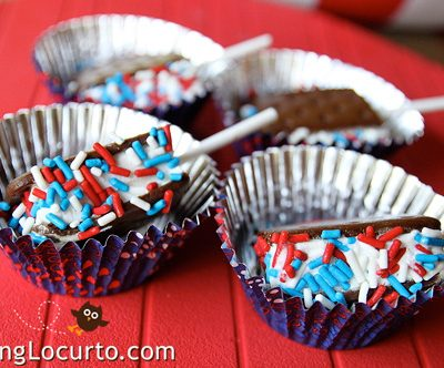 Red White and Blue Ice Cream Sandwich Pops