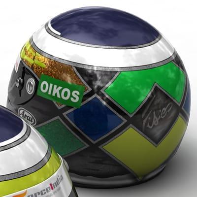 1632 Giancarlo Fisichella New F1 Helmet