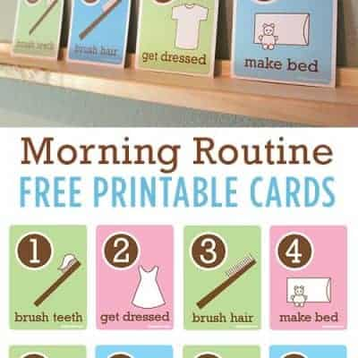 Kid's Morning Routine Flash Cards
