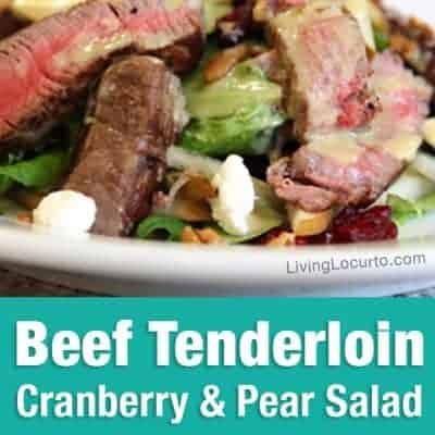 Beef Tenderloin Salad with Homemade Honey Mustard
