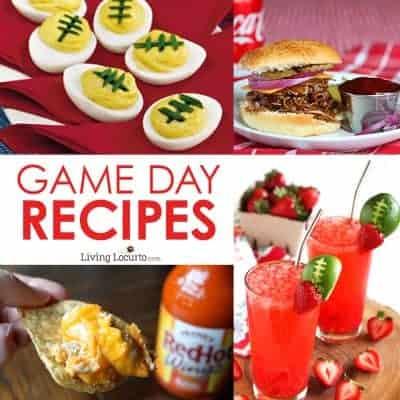 Super Bowl Party Football Recipe Ideas